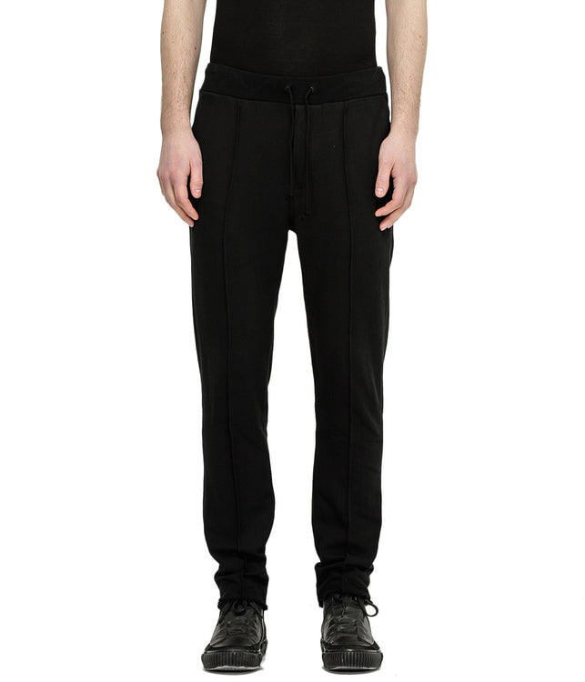 Black Cotton Twill Trousers