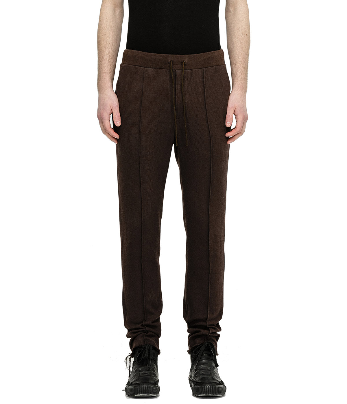 Brown Cotton Twill Trousers