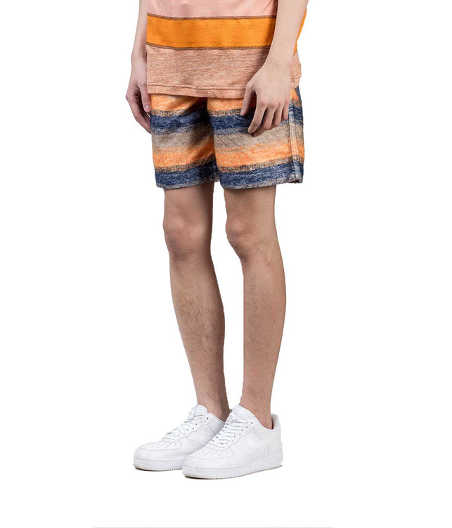 Textured Striped Shorts