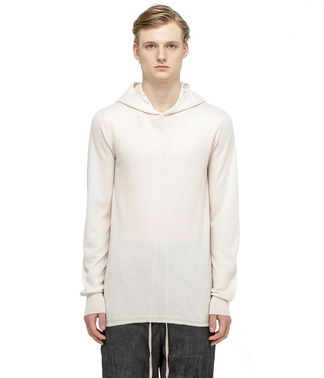 Ivory White Cashmere Hoodie