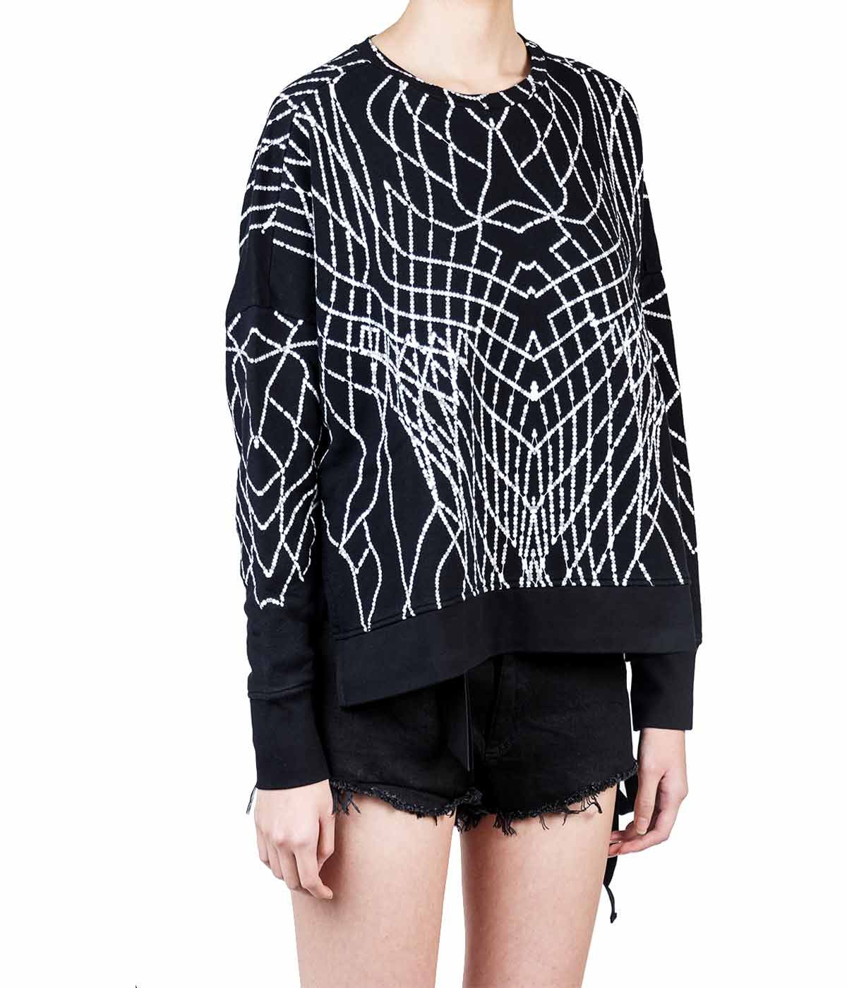 Printed Graphic Oversized Sweatshirt