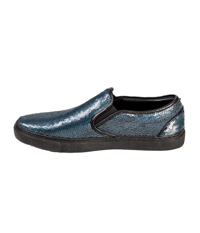 Reverse Sequins Slip-on Sneakers