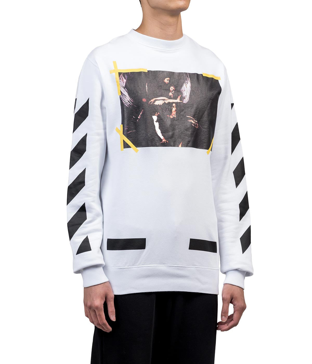 White Painting Print Sweatshirt