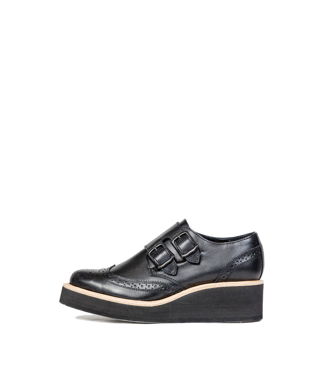 Black Monk Brogue Shoes