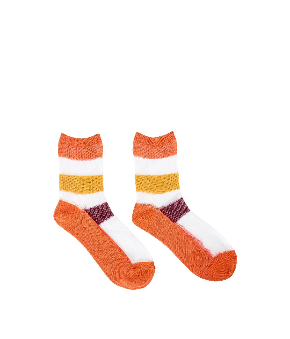 Orange Sheer Socks