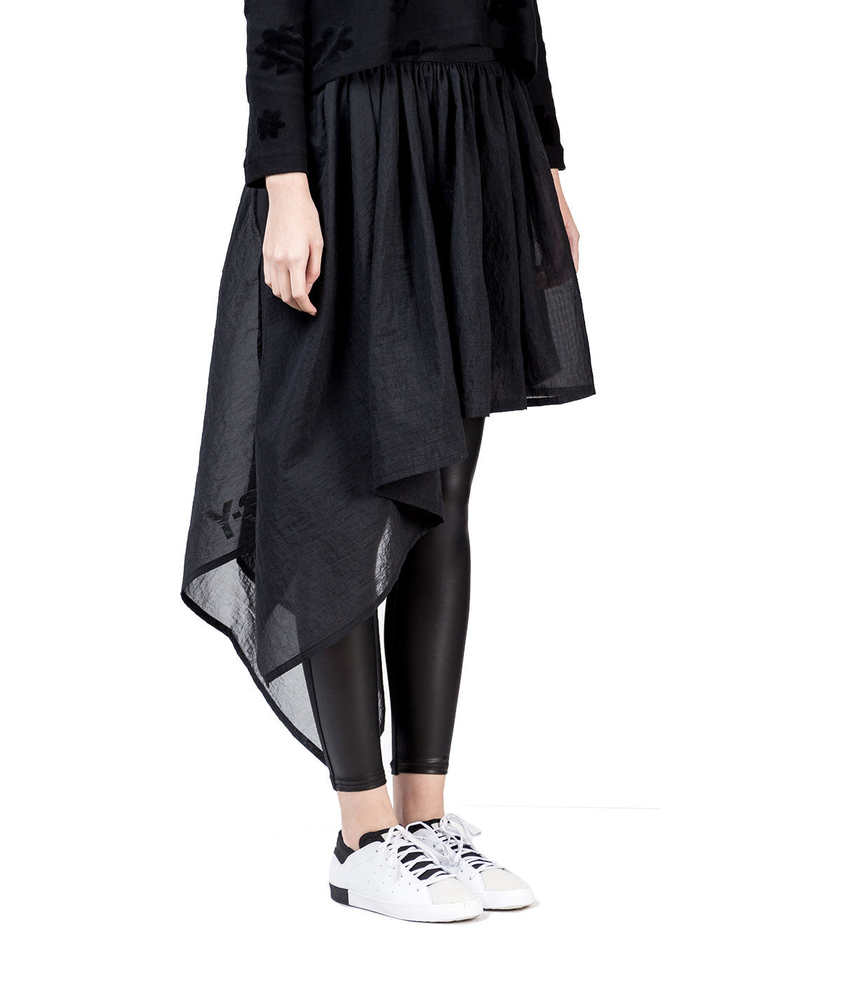 Asymmetrical Air Mesh Skirt