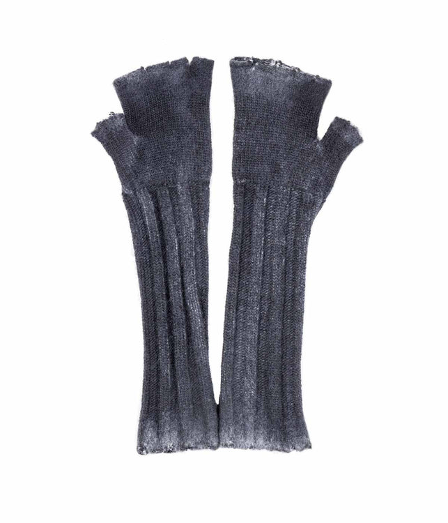 Black Elongated Fingerless Gloves