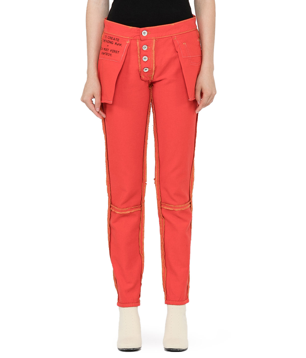 Red Reverse Skinny Jeans
