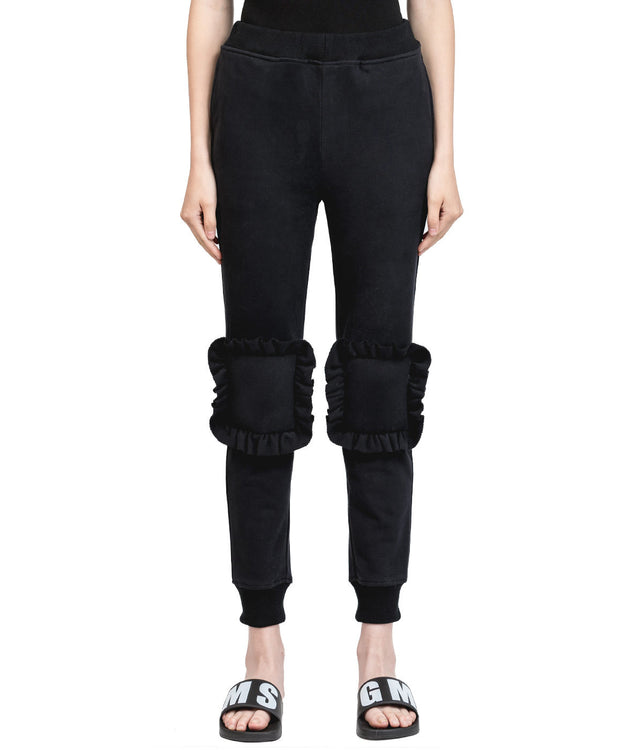Black Kneepad Sweatpants