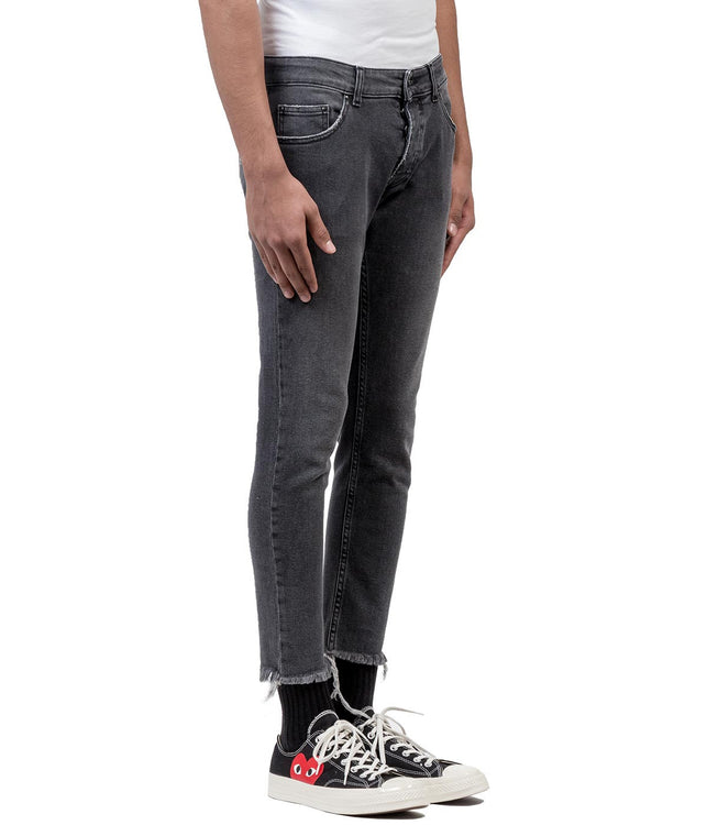 Black Cropped Skinny Denim Jean