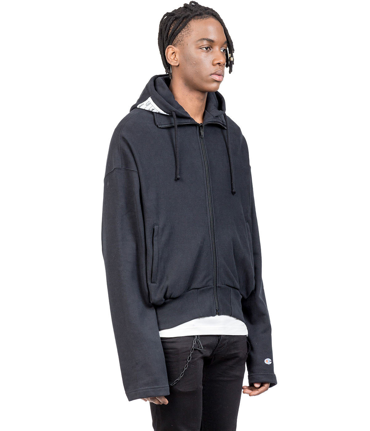 Champion Black Zip-Up Hoodie