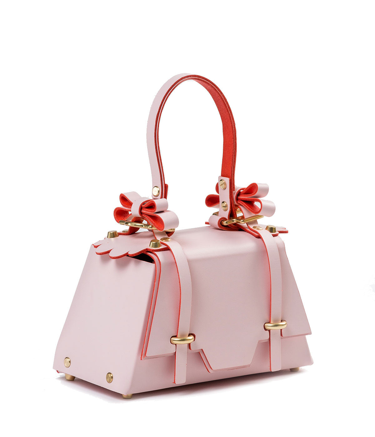 Winged Bow Trapezoid Box Bag