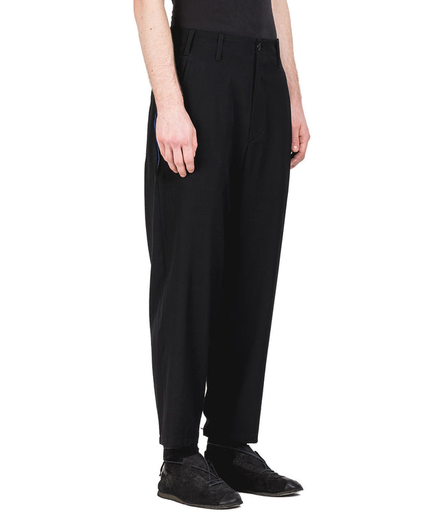 Black Convertible Back Panel Pants