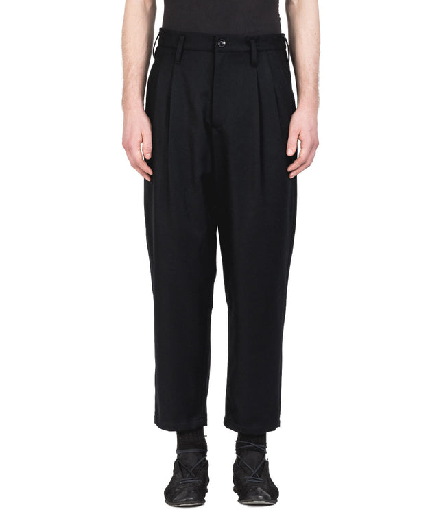 Black Wool Felt Pants