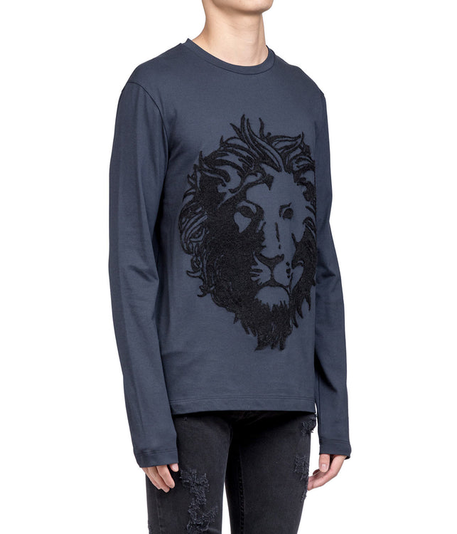 Deep Navy Long Sleeved Lion T-shirt