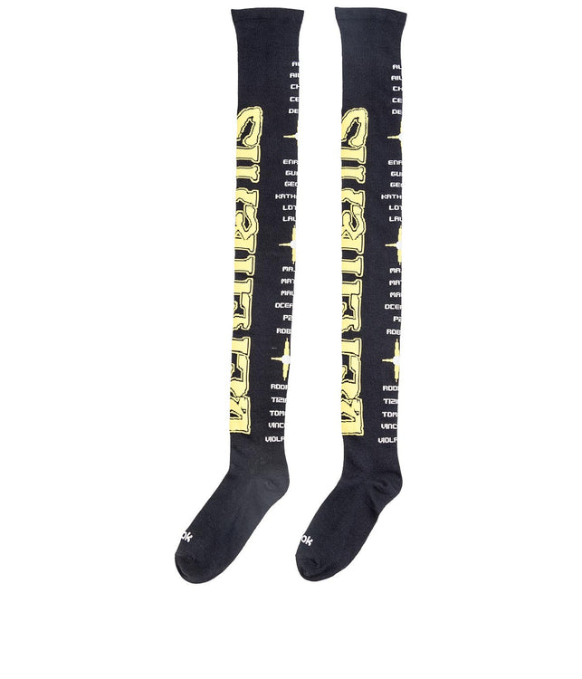 Reebok Black Over the Knees Long Socks