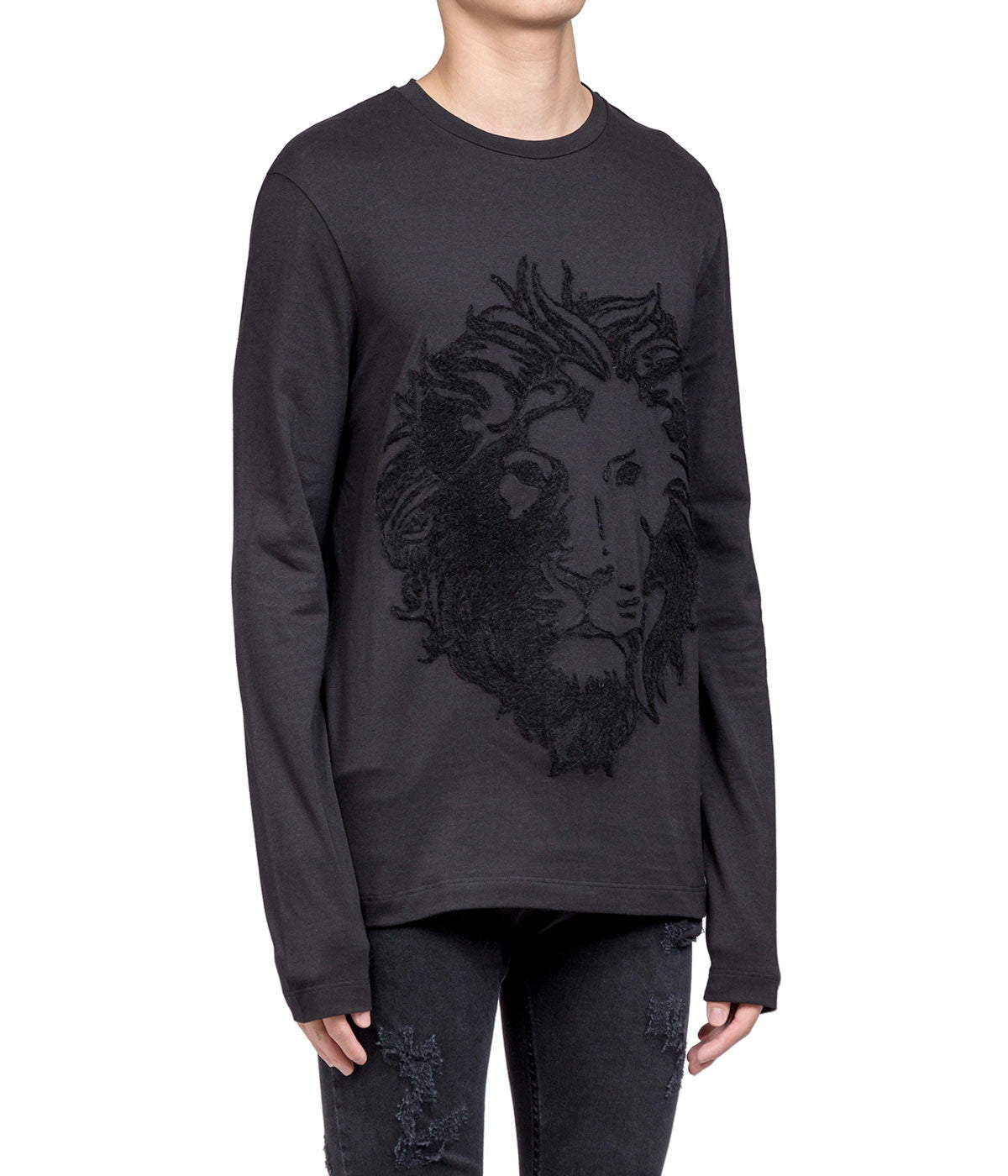Black Long Sleeved Lion T-shirt