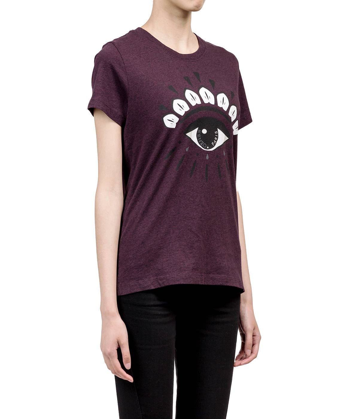 Plum purple Eye Print T-shirt