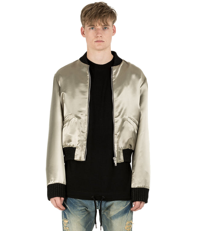 Silver Bomber Jacket