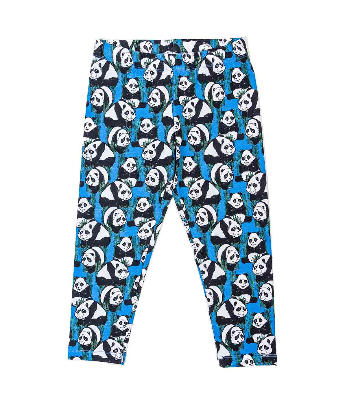 Blue Panda Print Leggings