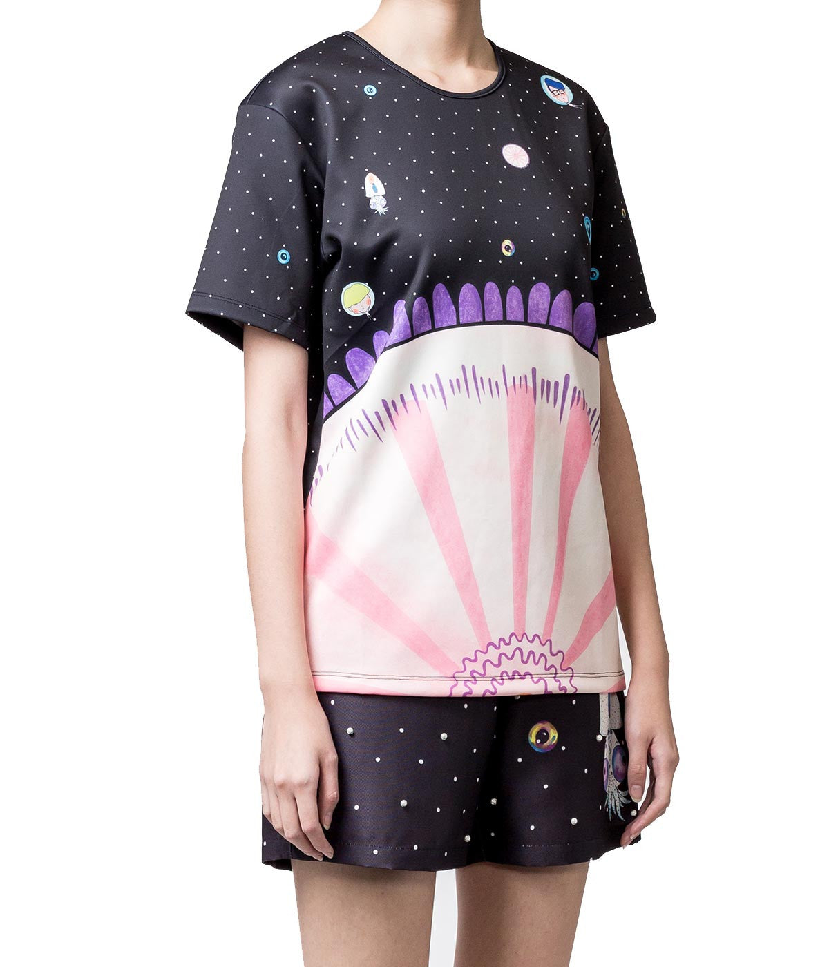 Printed Polyester T-Shirt