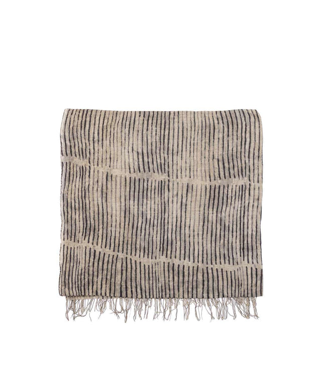 Brown Striped Scarf