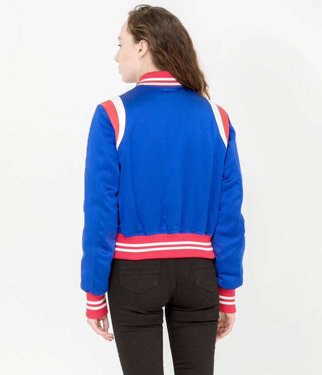 Blue Varsity Baseball Jacket