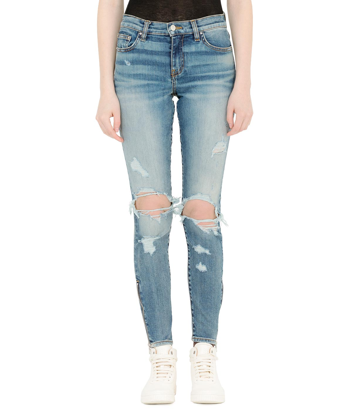 Blue Distressed Thrasher Jeans