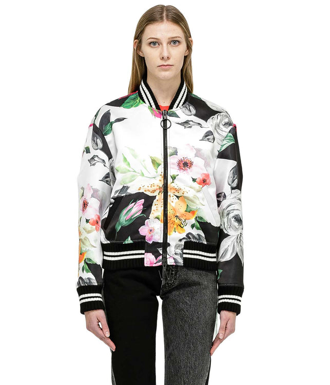 White Duchess Bomber Jacket