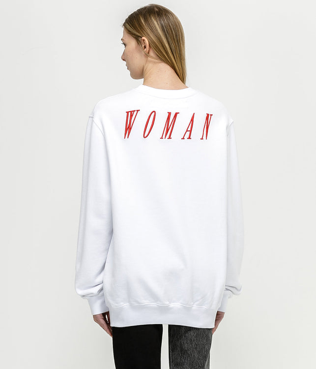 White Oversized Foundation Sweatshirt