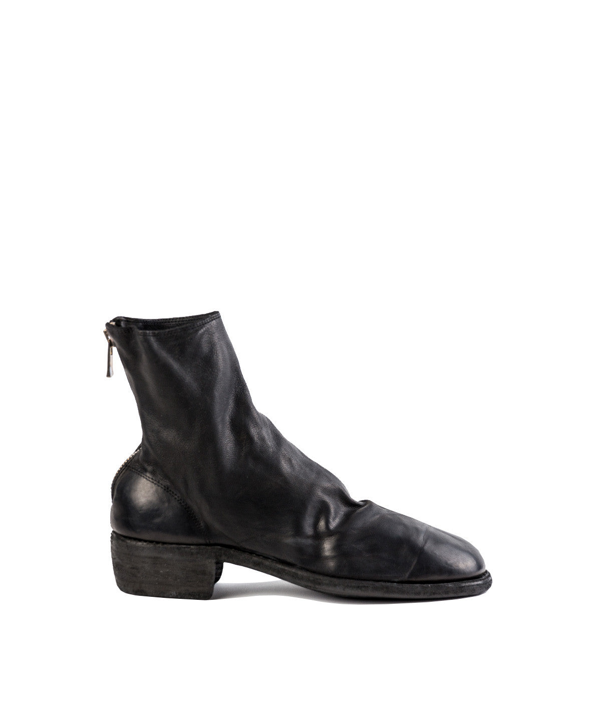 Black Full Grain Ankle Boots