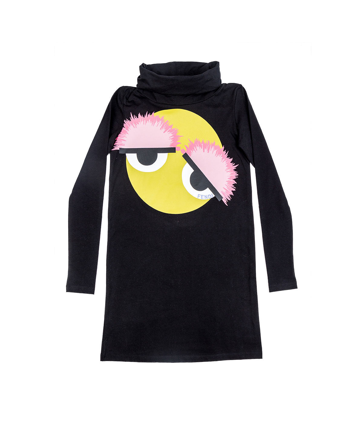 Kids Black Turtleneck Dress