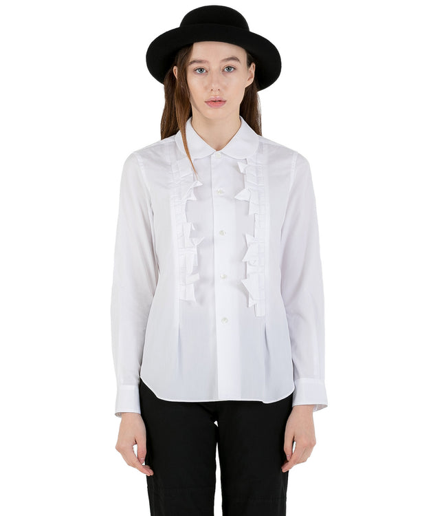 White Ruffled Shirt
