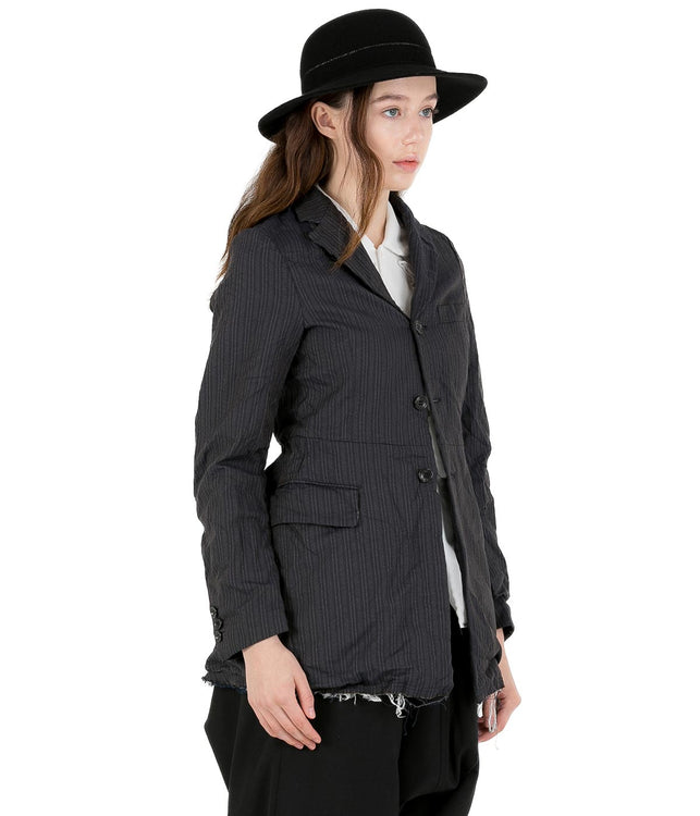 Dark Grey Pin Striped Jacket