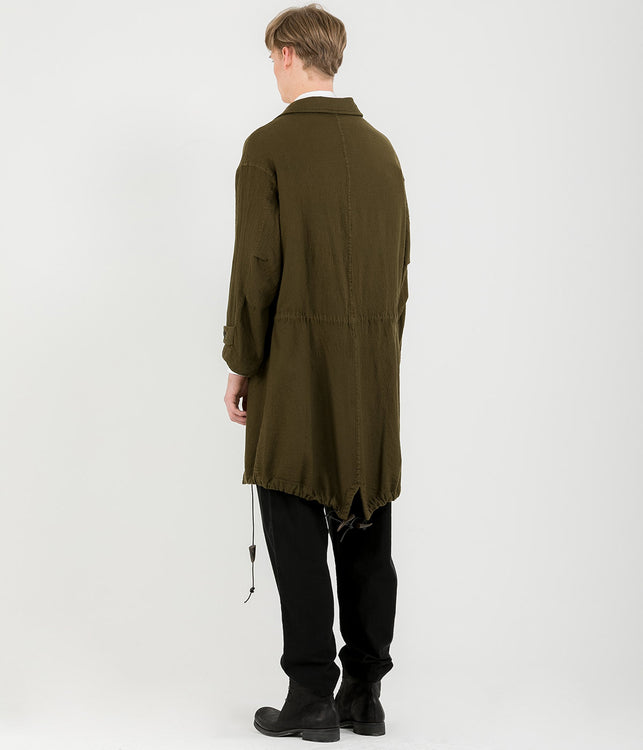 Khaki Vintage Wool Coat
