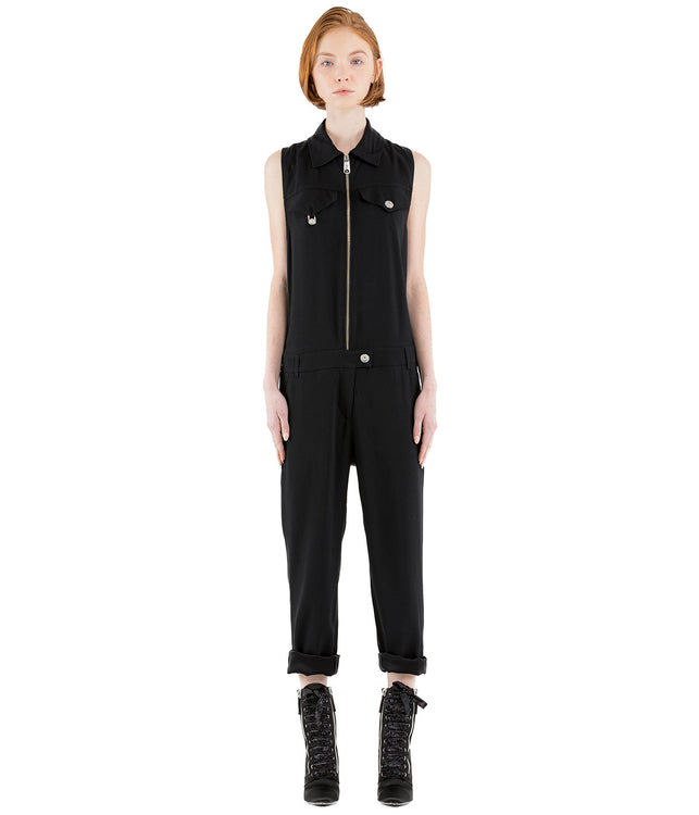 Black Zip Up Jumpsuit
