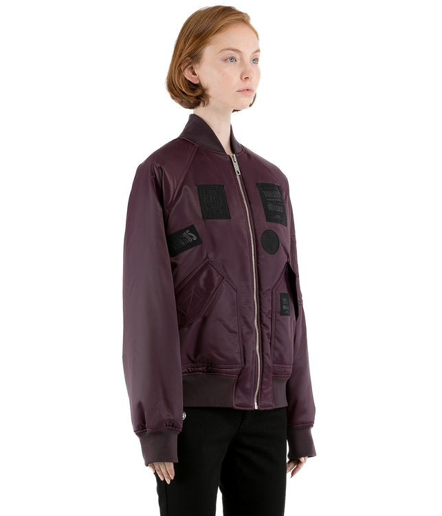 Burgundy Red Bomber Jacket