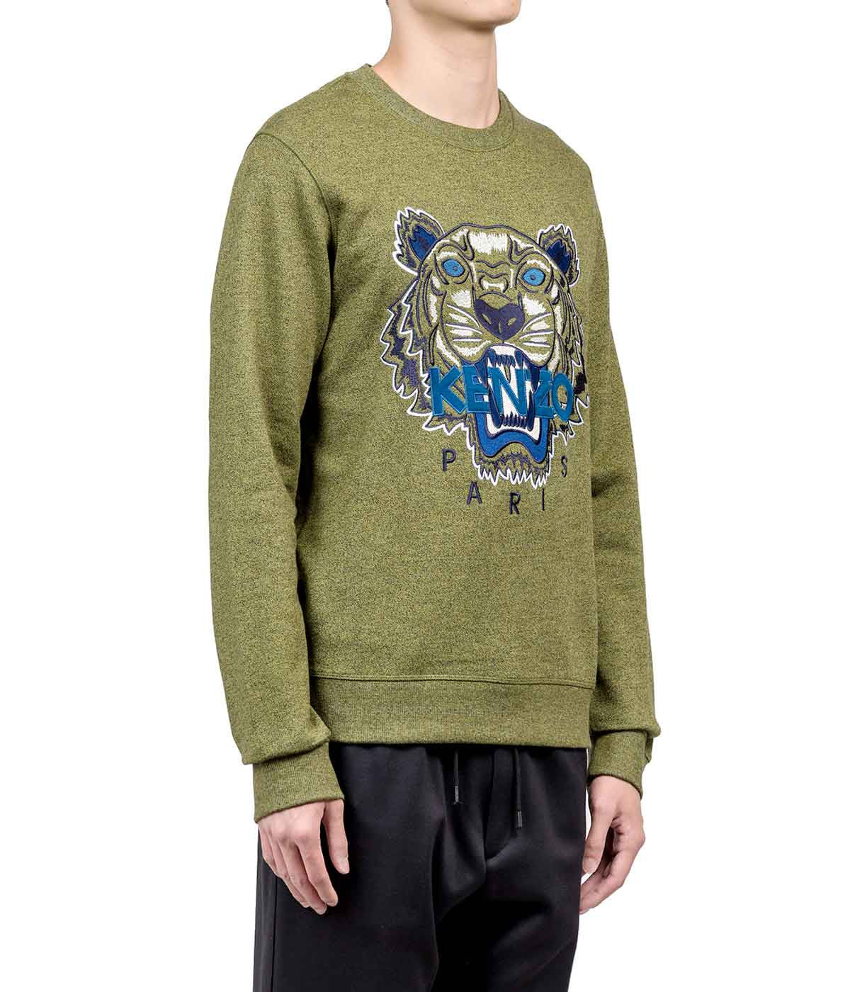 Dark Khaki Tiger Logo Sweatshirt