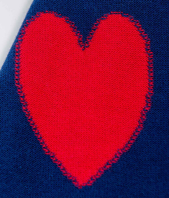 Cotton Cardigan with Hearts