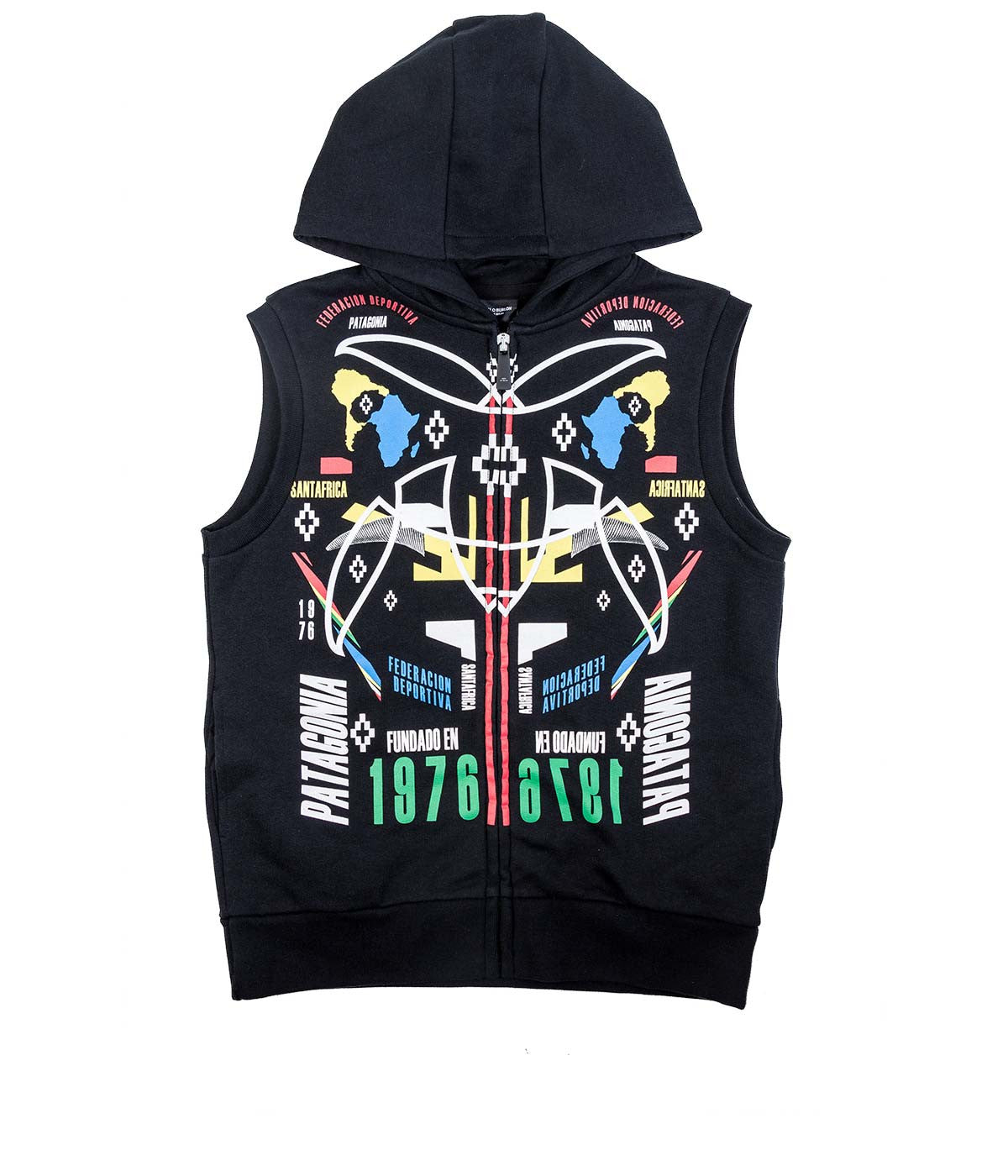 Kids Sleeveless Zip Up Hoodie