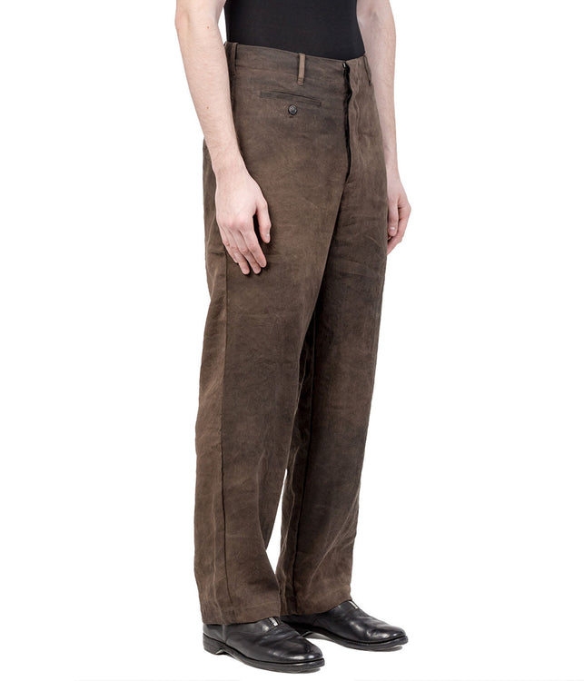 Brown Wrinkled Trousers