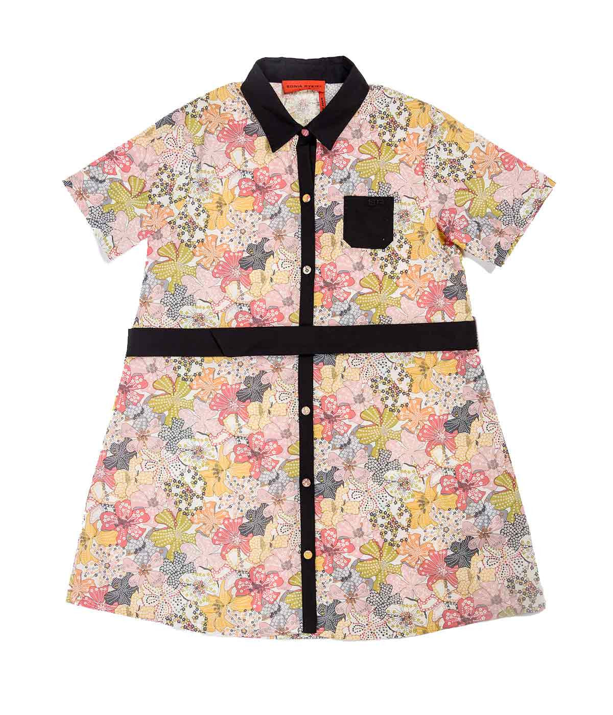 Kids Golden Liberty Print Shirt Dress