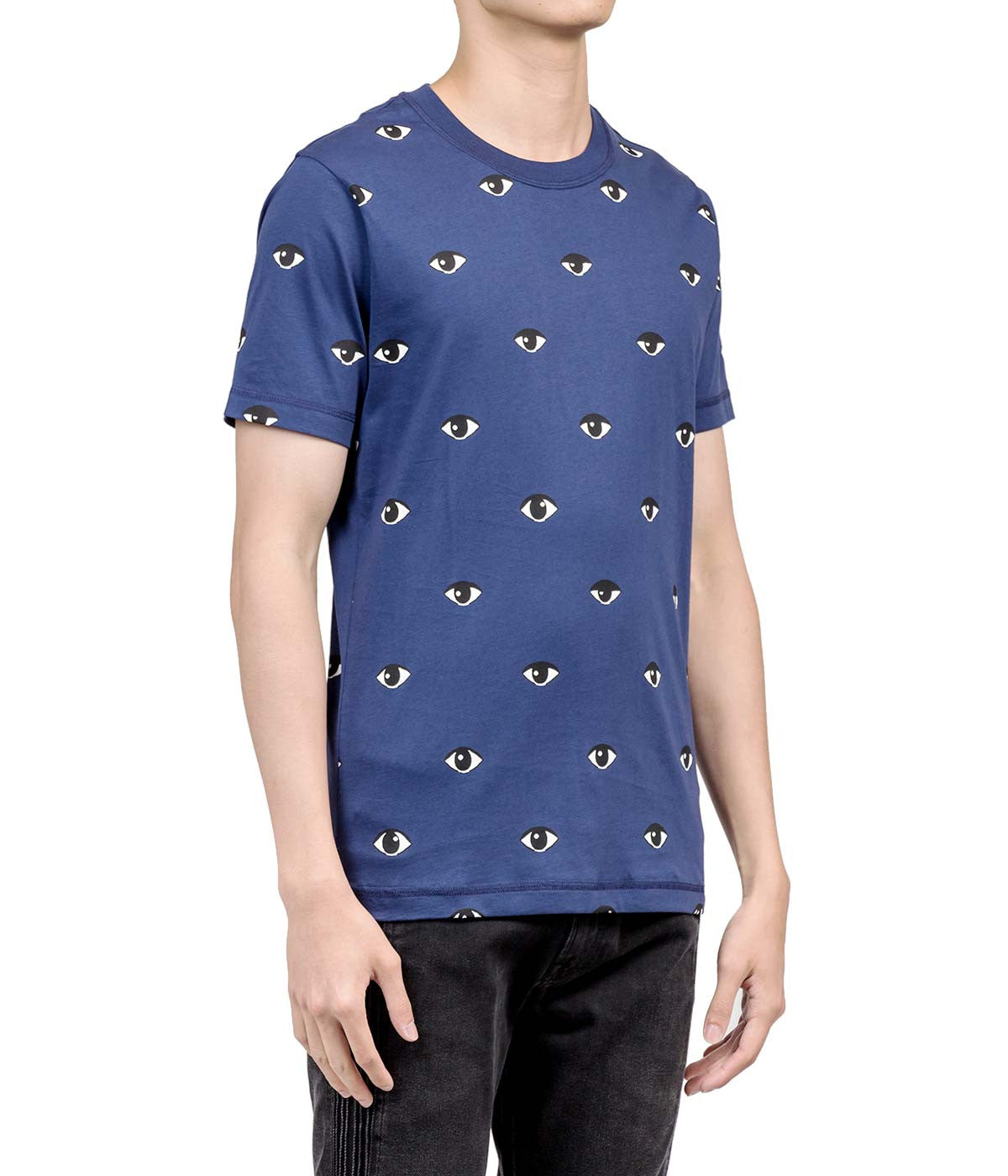 Ink Blue Eye Print T-shirt