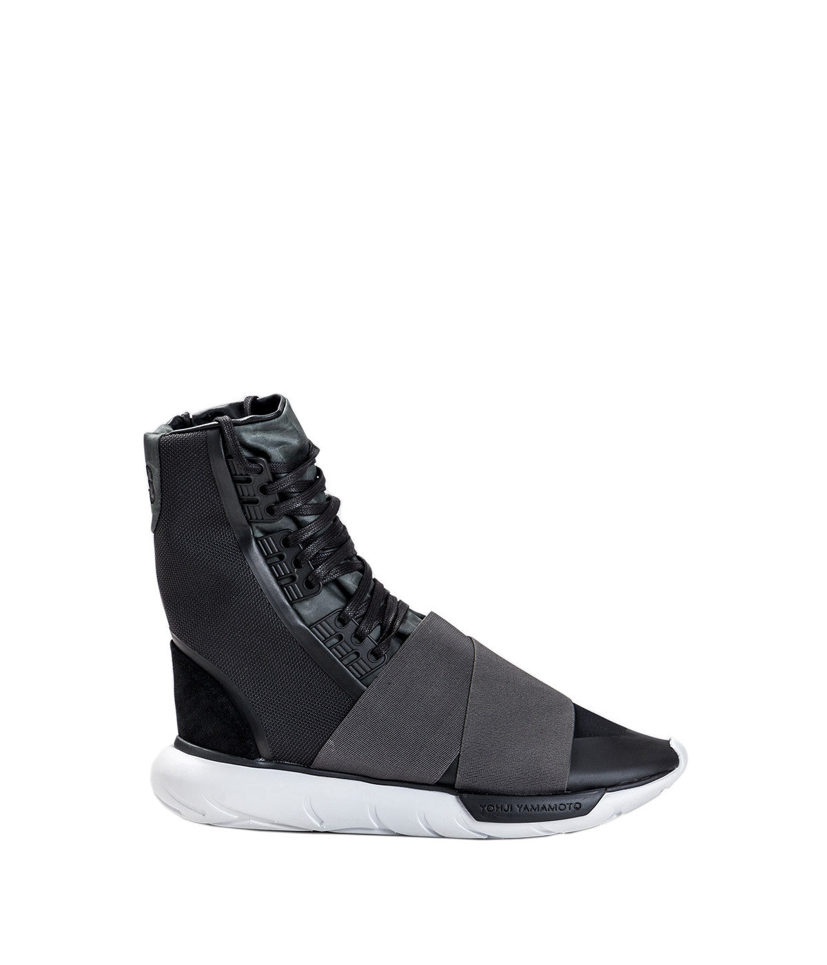 Black Qasa Boot High-Top Sneakers