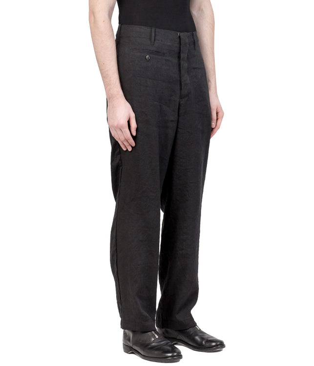 Black Wrinkled Trousers