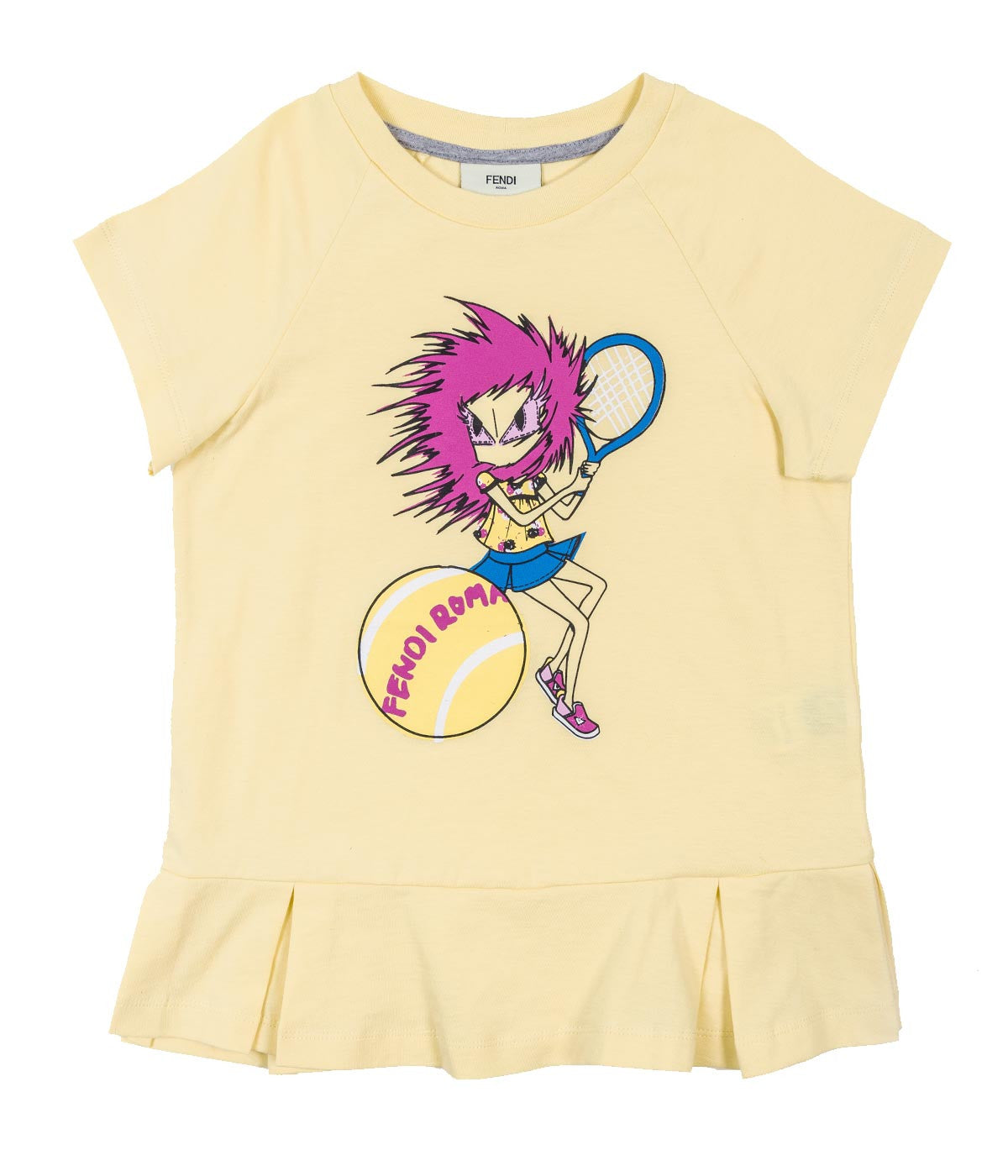 Girls Short Sleeve T-shirt With Tennis Graphic