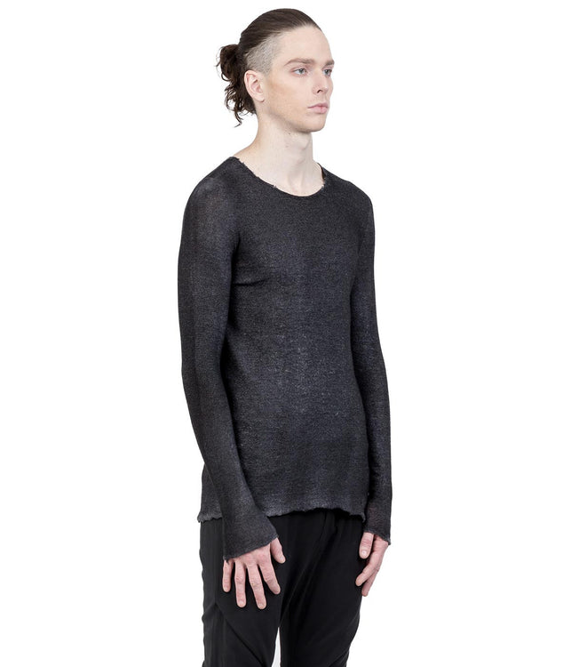 Mixed Grey Cashmere-Silk Sweater