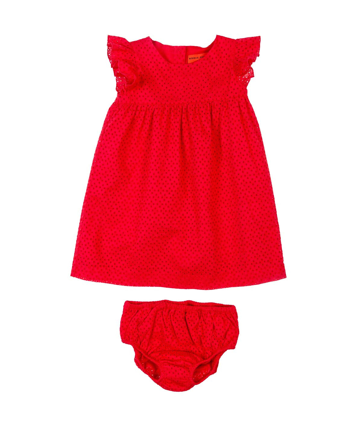 Baby Broderie Anglaise Dress with a Coordinating Under Garment