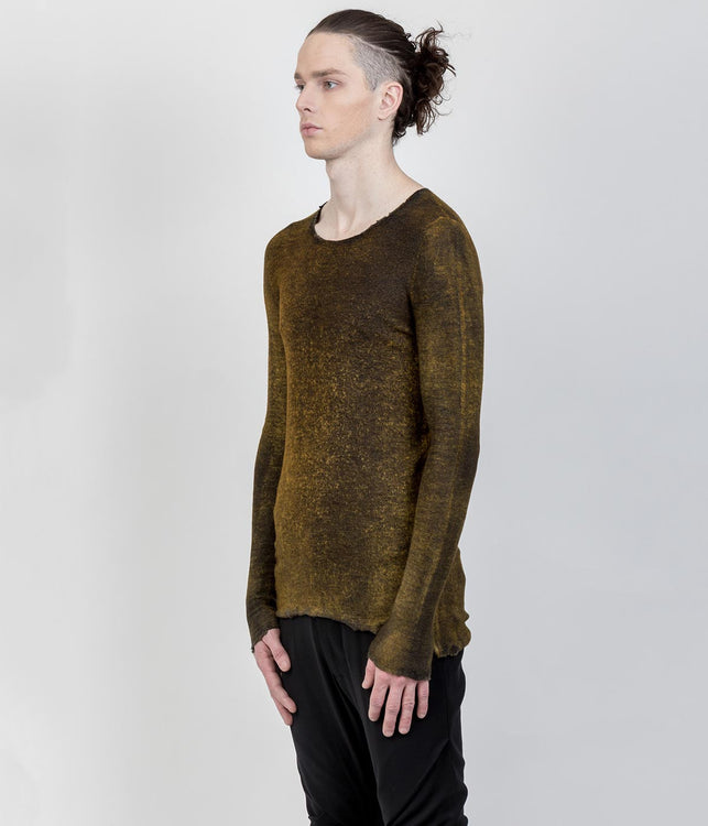 Mixed Yellow Cashmere-Silk Sweater