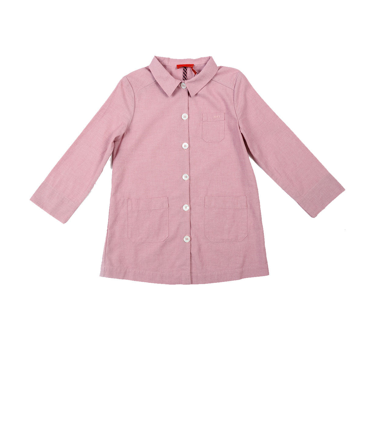 Kids Chambray Jacket With Vichy Details